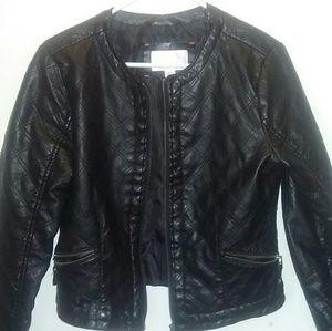 Xhilaration Black Leather Jacket